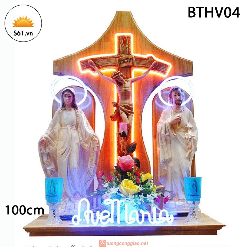 Bàn Thờ Chúa Gỗ MDF 100cm Mã BTHV04