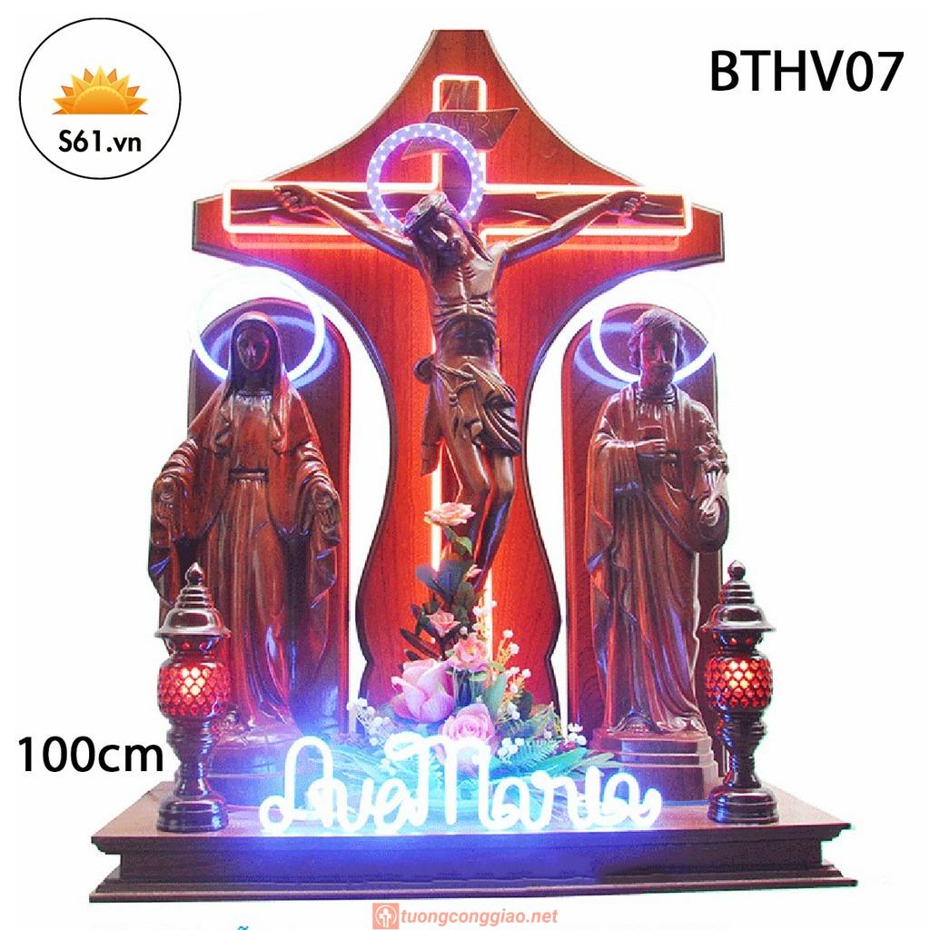 Bàn Thờ Chúa Gỗ Hương Cao 100cm