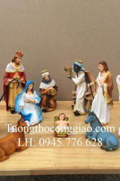 Bộ Noel Giáng Sinh 17cm 11 Tượng Mẫu Ý