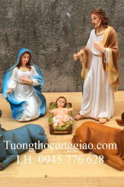 Bộ Tượng Giáng Sinh 17cm Mẫu Ý (5 Tượng) 02