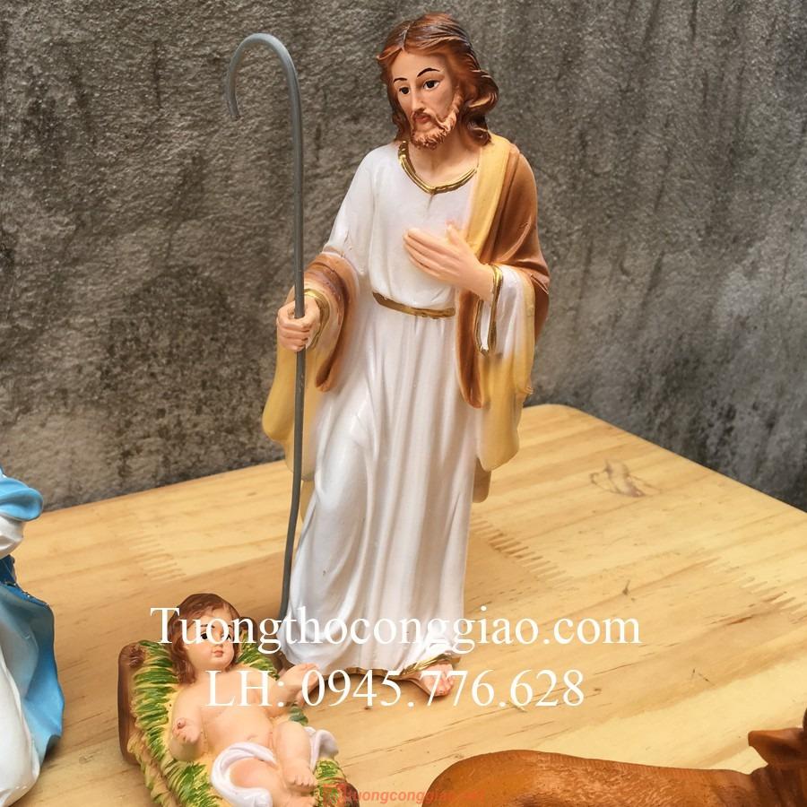 Bộ Tượng Giáng Sinh 17cm Mẫu Ý (5 Tượng) 03