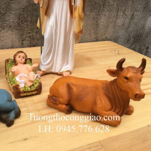 Bộ Tượng Giáng Sinh 17cm Mẫu Ý (5 Tượng) 04