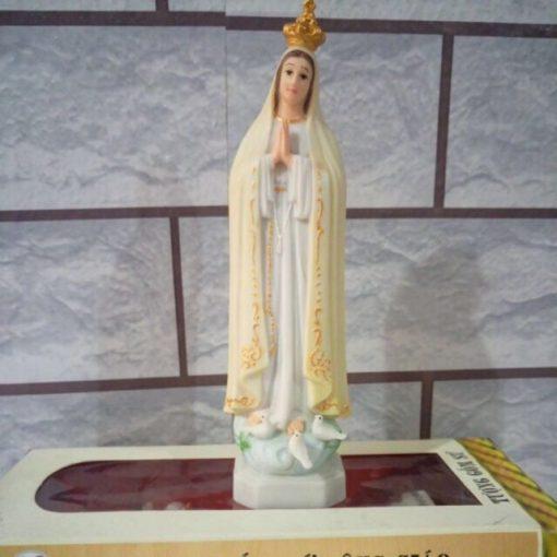 Đức Mẹ Fatima Gốm Sứ 15cm (1)