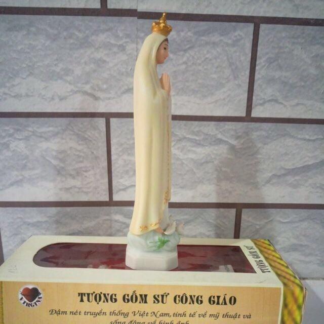 Đức Mẹ Fatima Gốm Sứ 15cm (3)