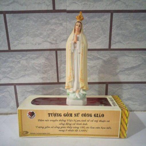 Đức Mẹ Fatima Gốm Sứ 15cm (4)