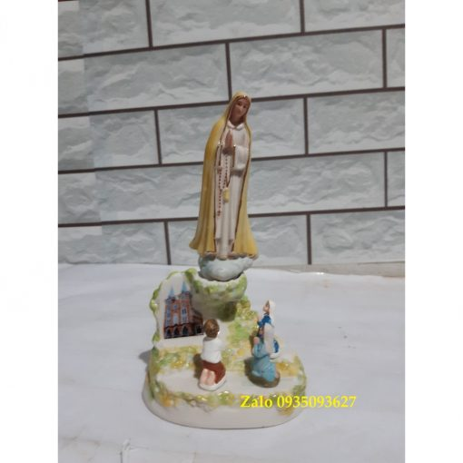 Đức Mẹ Fatima Hiện Ra Với 3 Trẻ Bằng Gốm Sứ 04
