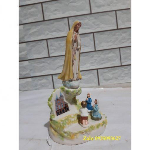 Đức Mẹ Fatima Hiện Ra Với 3 Trẻ Bằng Gốm Sứ