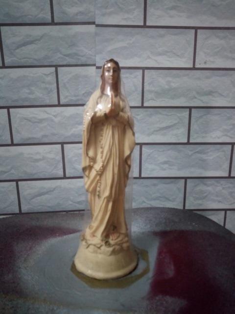 Đức Mẹ Lộ đức Màu Vàng 30cm (1)