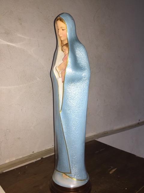 Đức Mẹ ôm Chúa 60cm Xanh (6)