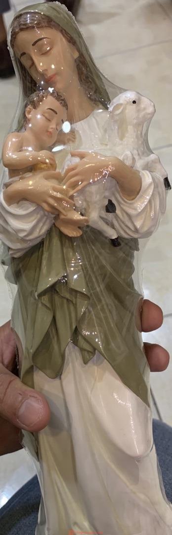 Đức Mẹ Bế Chúa Chiên Cao 32cm 03