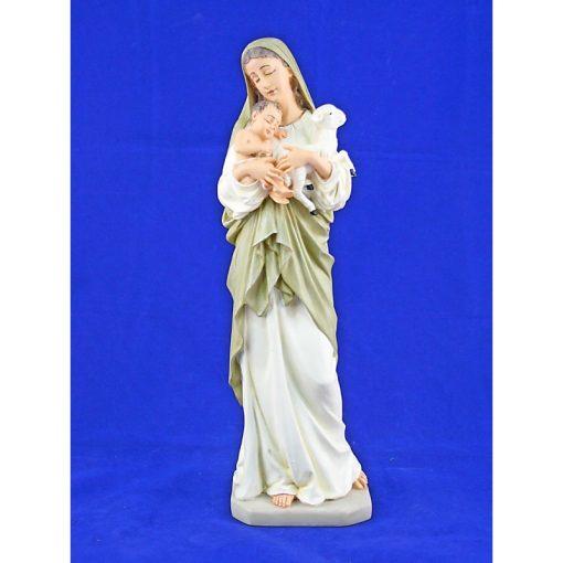 Đức Mẹ Bế Chúa Chiên Cao 32cm