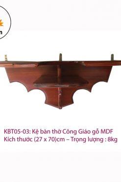 Kệ Bàn Thờ Chúa Gỗ MDF (27 X 70)cm