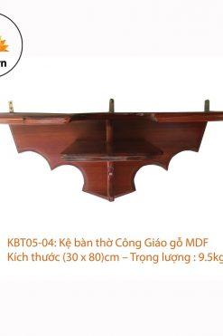 Kệ Bàn Thờ Chúa Gỗ MDF (30 X 80)cm