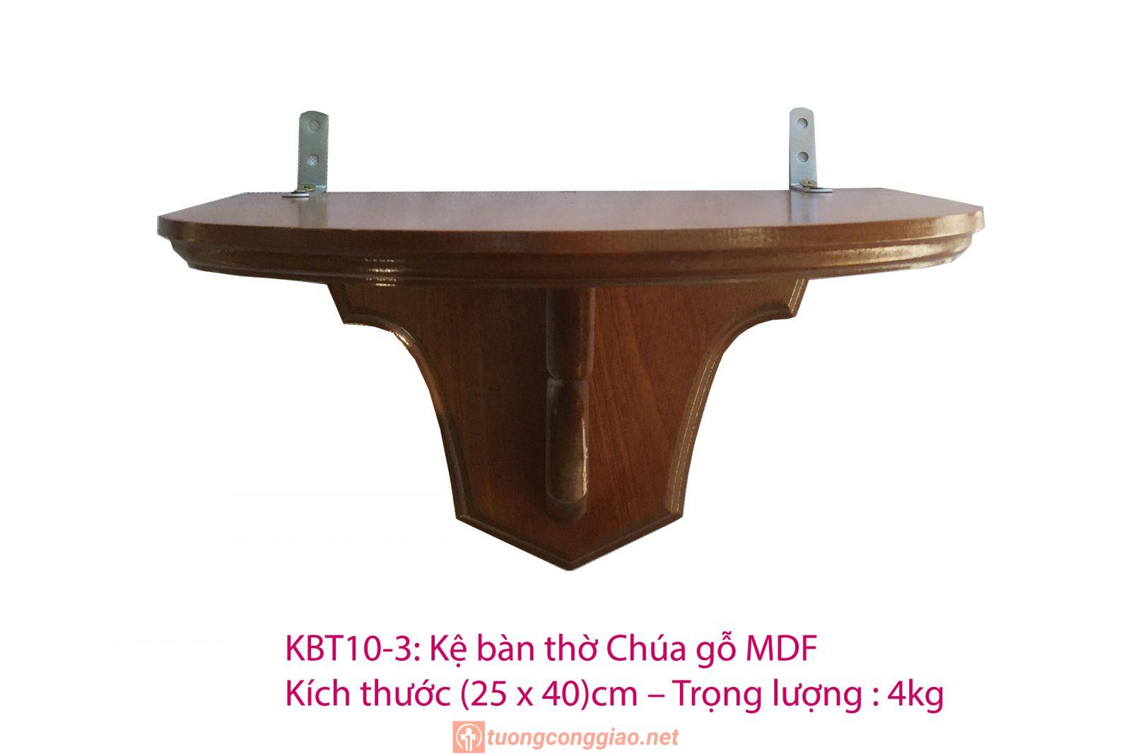 Kệ Bàn Thờ Công Giáo Gỗ MDF (25 X 40)cm