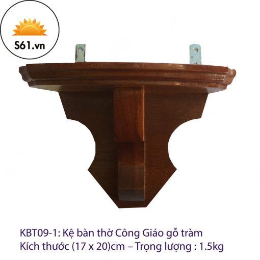 Kệ Bàn Thờ Công Giáo Gỗ Tràm (17 X 20)cm