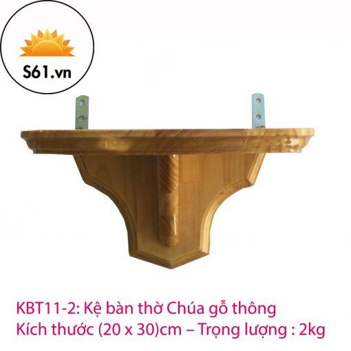 Kệ Bàn Thờ Công Giáo Gỗ Thông (20 X 30)cm