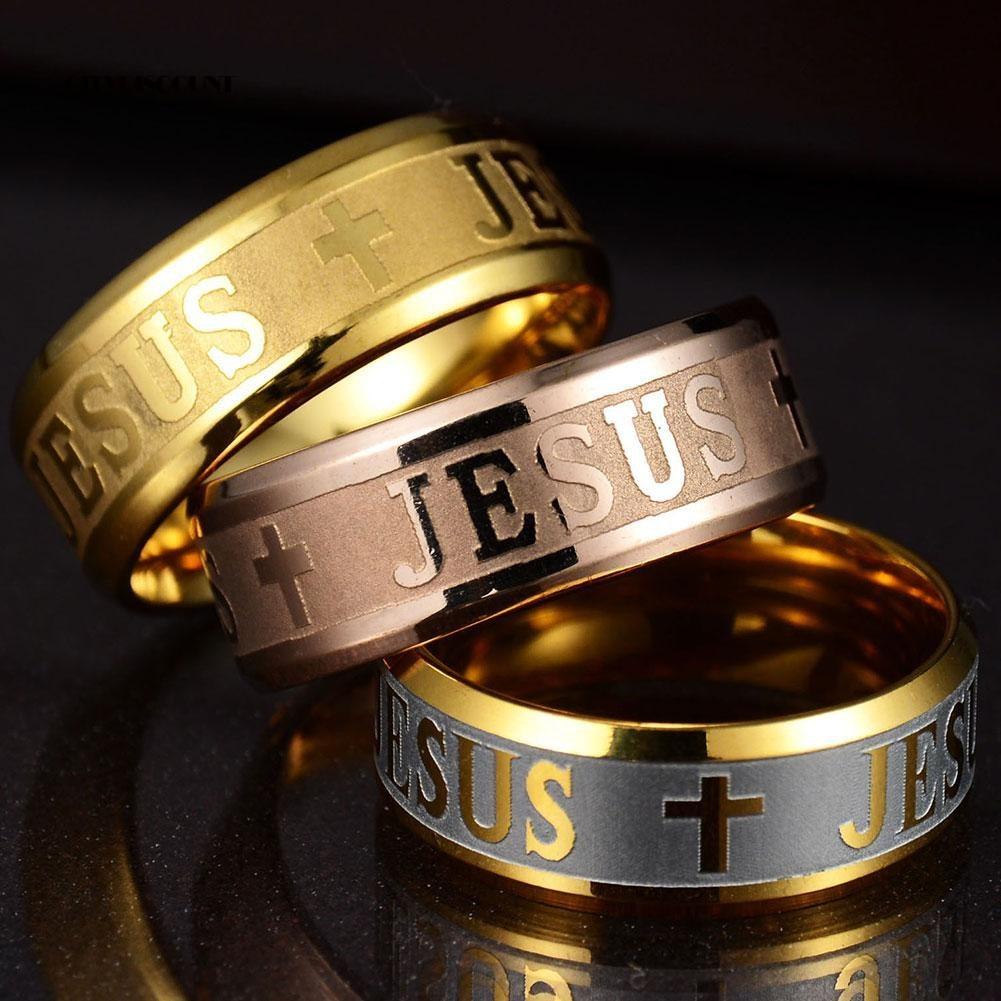 Nhẫn Khắc Nổi Hình Thánh Giá Chúa Jesus Phong Cách Thanh Lịch Dành Cho Cả Nam Và Nữ 02