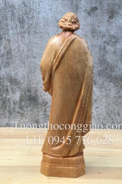 Thánh Giuse Công Nhân 20cm Gỗ Pơ Mu 03