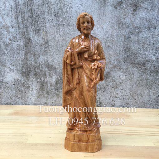 Thánh Giuse Công Nhân 20cm Gỗ Pơ Mu