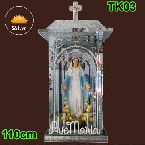 Tòa Đức Mẹ Bằng Kính 110cm 02