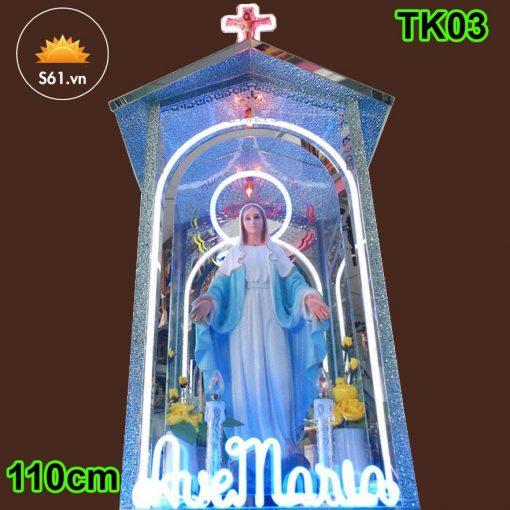 Tòa Đức Mẹ Bằng Kính 110cm