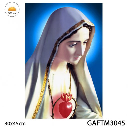 Tranh đức Mẹ Fatima Gỗ MDF 30x45cm