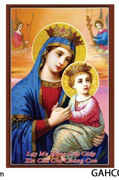 Tranh đức Mẹ Hằng Cứu Giúp Gỗ MDF 40x60cm