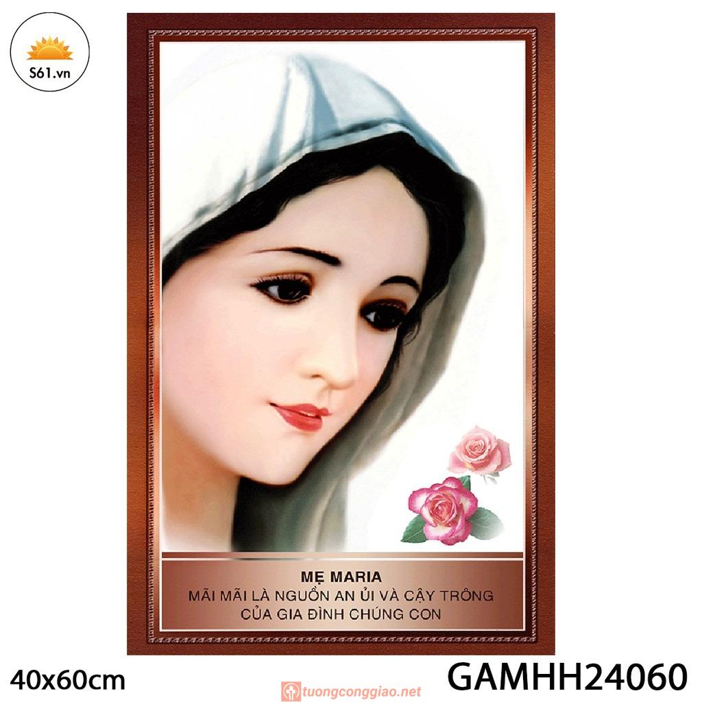 Tranh đức Mẹ Hoa Hồng Mẫu 2 Gỗ MDF 40x60cm