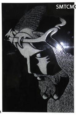 Tranh Sơn Mài Cẩm Trứng Chúa đội Mão Gai Gỗ MDF 40x60cm