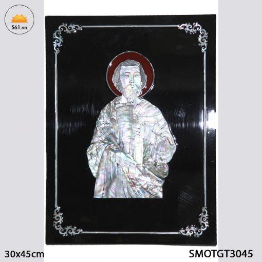 Tranh Sơn Mài Khảm ốc Thánh Giuse Thợ Gỗ MDF 30x45