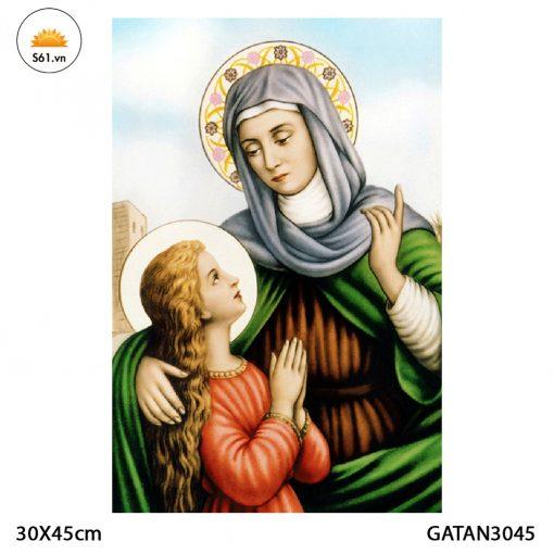 Tranh Thánh Anna Gỗ MDF 30x45cm
