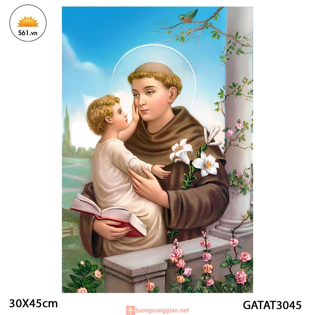 Tranh Thánh Anton Gỗ MDF 30x45cm
