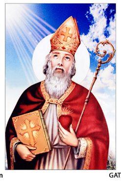 Tranh Thánh Augustino Gỗ MDF 40x60cm