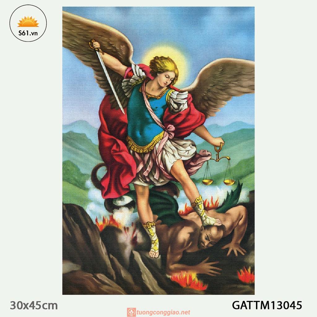Tranh Thiên Thần Micae Mẫu 1 Gỗ MDF 30x45cm