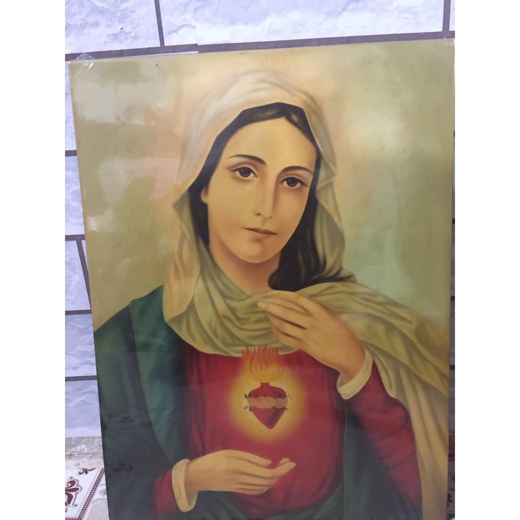Tranh Vẽ Tay Đức Mẹ 40x50 (1)