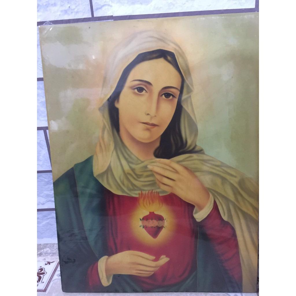 Tranh Vẽ Tay Đức Mẹ 40x50 (2)