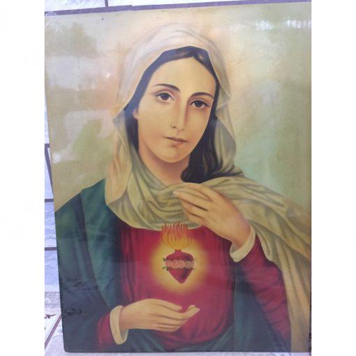 Tranh Vẽ Tay Đức Mẹ 40x50 (4)