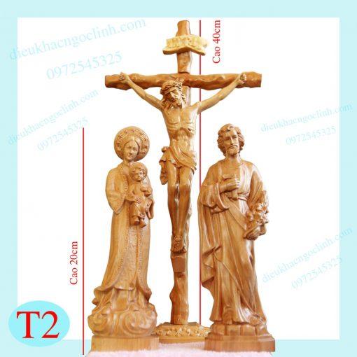 Tượng Chúa Chịu Nạn Thánh Giuse & Mẹ La Vang 20cm