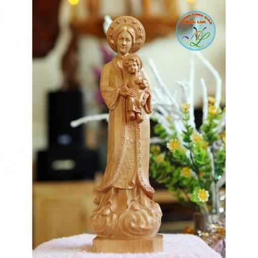 Tượng Đức Mẹ La Vang Cao 15cm 01