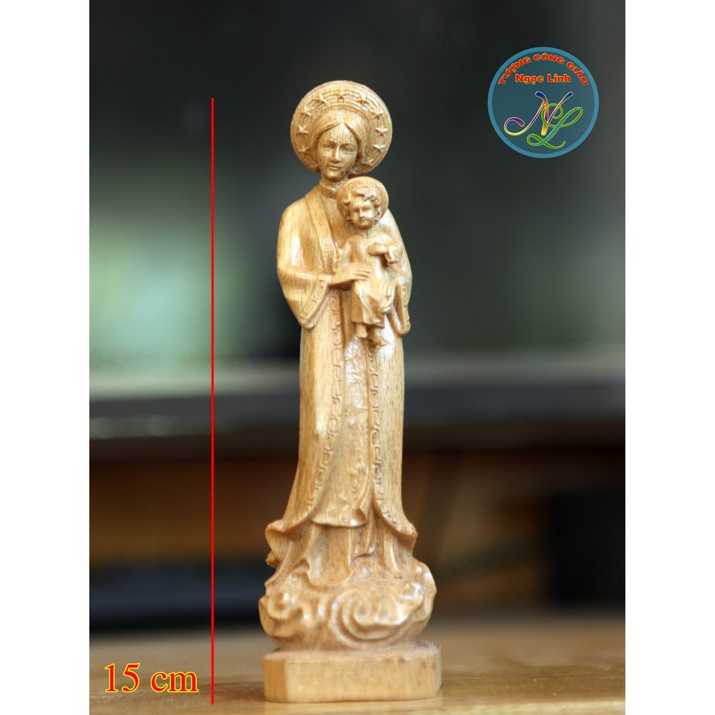 Tượng Đức Mẹ La Vang Cao 15cm 03