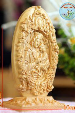 Tượng Phù điêu Đức Mẹ Hằng Cứu Giúp Cao 19cm 02