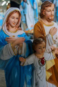 Tượng Gia đình Thánh Gia Màu Cao Cấp Siêu Bền 40cm 02