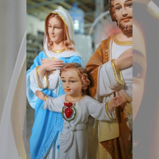 Tượng Gia đình Thánh Gia Màu Cao Cấp Siêu Bền 40cm 03