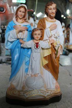 Tượng Gia đình Thánh Gia Màu Cao Cấp Siêu Bền 40cm 04