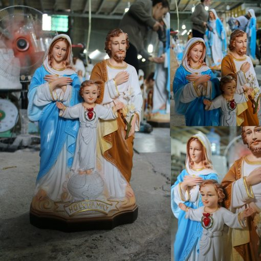 Tượng Gia đình Thánh Gia Màu Cao Cấp Siêu Bền 40cm