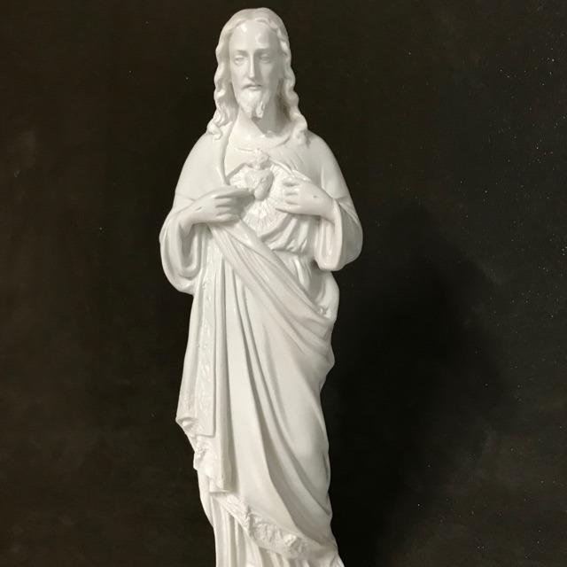 Tượng Thánh Tâm Chúa Mẫu Cổ 45cm (1)