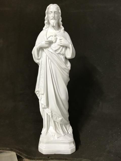 Tượng Thánh Tâm Chúa Mẫu Cổ 45cm (2)