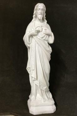 Tượng Thánh Tâm Chúa Mẫu Cổ 45cm (3)