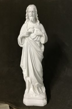 Tượng Thánh Tâm Chúa Mẫu Cổ 45cm (4)
