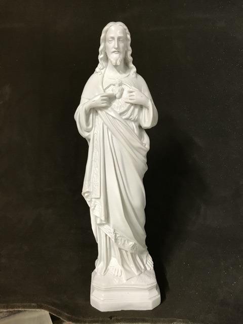Tượng Thánh Tâm Chúa Mẫu Cổ 45cm (5)